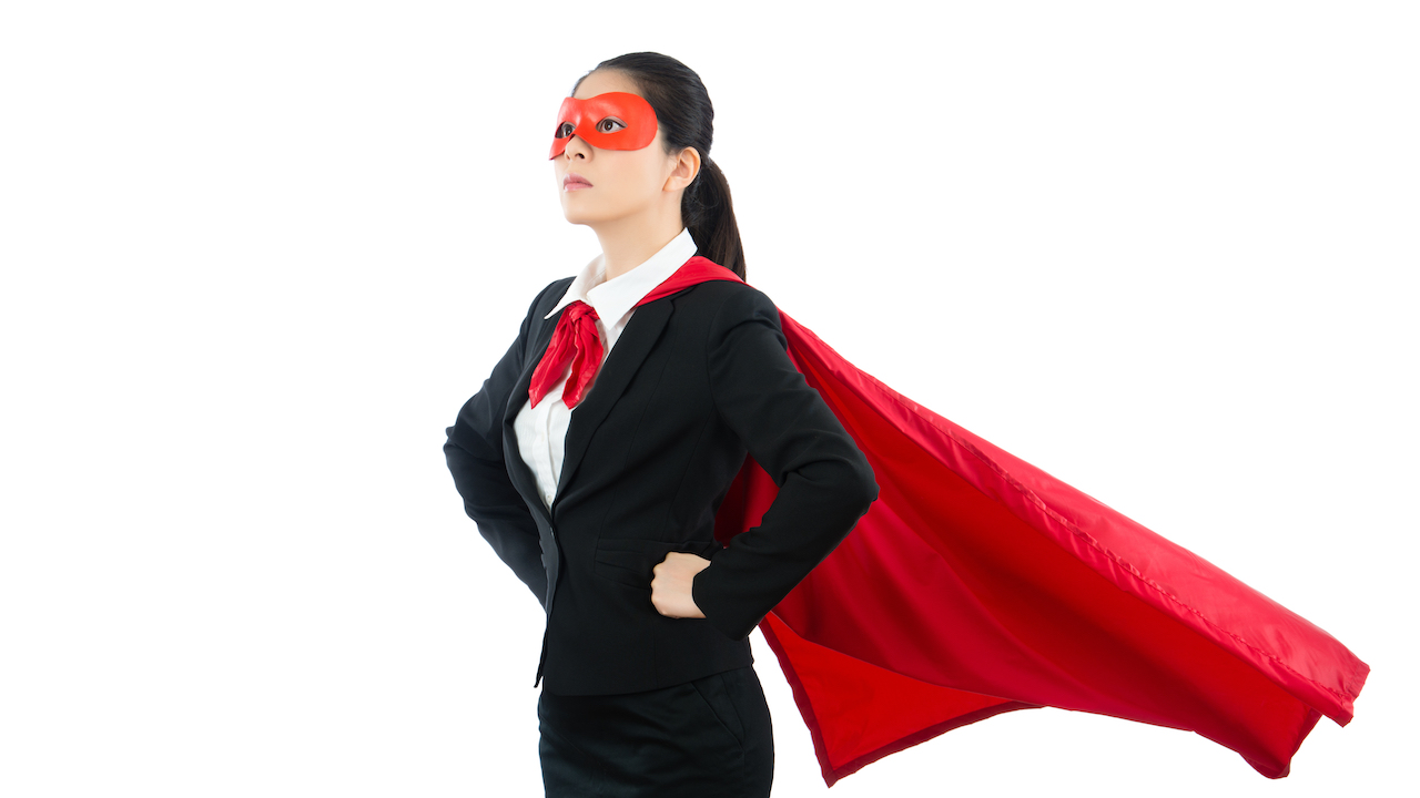 女性スーパーヒーロー